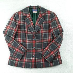 VTG 50s Pendleton Lily Lang Plaid Wool Blazer M